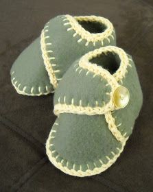 LDS Mom to Many: Baby Slippers with Ankle Strap
