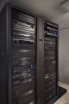 "Equipment rack shows the ""brains"" behind a high-tech smart home"