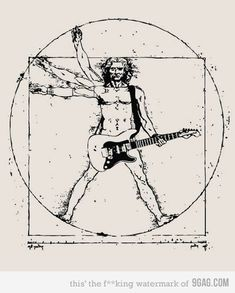 Vitruvian Man Rockin out.                                    I have an inventive mind.  Seventh Crow.