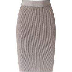 Cecilia Prado knit pencil skirt ($106) ❤ liked on Polyvore featuring skirts, pink, pink pencil skirt, knit skirt, pencil skirts, elastic waist pencil skirt and knit pencil skirt