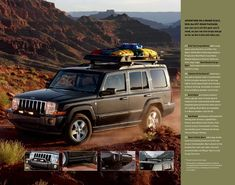 2007 Jeep Commander Accessories by JParts Jeep Rubicon, Jeep Wrangler, Jeep Commander Accessories, Jeep Patriot, Jeep Liberty, Jeep Cherokee, Roof Rack, 4x4, Jeeps