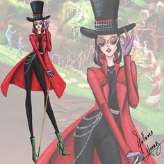 The Tim Burton Fashion Collection by Guillermo Meraz - Willy Wonka