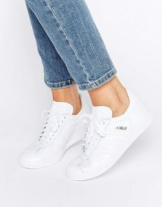 2gazelle adidas mujer blancas