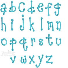 Baby Polka Dots Embroidery Font Set Includes: Upper & Lower Case Letters & Numbers 2 inch & lower 1.5 Letters
