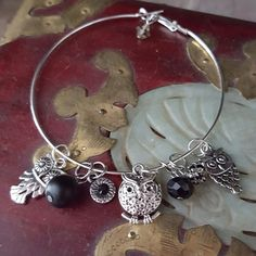 Newly listed in my Etsy shop! Owl bangle bracelet!  For that special owl lover you know - or for yourself
