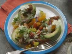 Tomato and Avocado salad with Creamy Garlic Cilantro Dressing from Simply Laura | CookingChannelTV.com