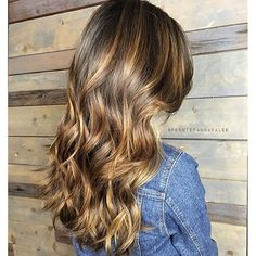 Warm cocoa brunette balayage for Spring/Summer - tone down the brass for perfection.