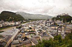Panoramica de Salzburgo desde la fortaleza