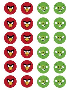 angry birds party supplies | Angry Birds Party Favors Bird amp Piggie Tootsie Pops W Printable