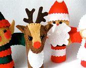 Christmas Finger Puppet Set - North Pole Gang