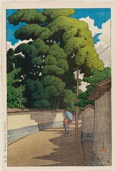 金沢下本多町 かなざわ しもほんだまち Shimohonda-machi, Kanazawa. 川瀬巴水 かわせはすい Kawase Hasui. 旅みやげ第二集  From series Souvenirs of Travel II.