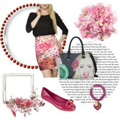 flower bloom by differentfashioncz on Polyvore featuring Desigual