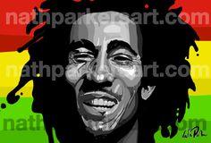 Bob Marley by Nathan Parker