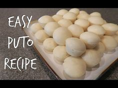 Easy Filipino Puto Recipe Using Pancake Mix Filipino Puto Recipe, Filipino Dishes, Filipino Desserts, Asian Desserts, Filipino Recipes, Filipino Cookies Recipe, Cuban Recipes, Filipino Food, Leche Flan
