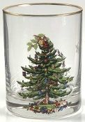 Spode Christmas Tree Double Old Fashion Glasses