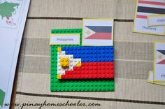 Flags using Lego