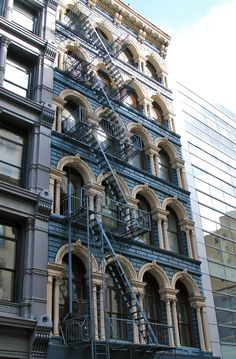 NYC:  cast iron fronts were popular on South Broadway