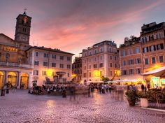 This historically working-class Roman neighborhood has become a major food destination in recent years, with open-air markets and tiny trattorias serving up some of the best meals in town. And it's not too tough on the eyes, either, especially as the sun sets.