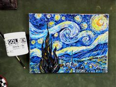 Step by Step Van Gogh's Starry Night using  Impasto Acrylic Mediums Tuto...