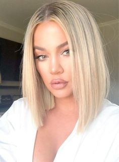 celebrity hair transformations Khloe Kardashian With Blunt Lob Khloe Kardashian Cabello, Khloe Kardashian Hair Short, Khloe Hair, Celebrity Hairstyles, Bob Hairstyles, Hairstyle Pics, Natural Hairstyles, Summer Hairstyles, Trendy Hairstyles