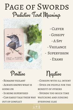 Future Tarot Meanings: Page of Swords — Lisa Boswell Tarot Card Meanings Pdf, Page Of Swords, Tarot Card Spreads, Tarot Astrology, Love Tarot, Oracle Cards, Card Reading, Tarot Decks, Meant To Be