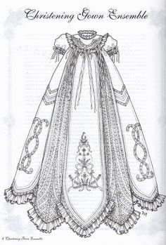 vintage baptismal gown patterns - Google Search
