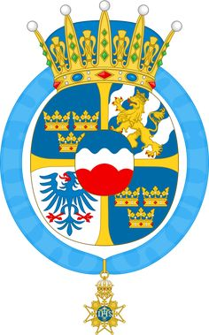 Coat of arms of Princess Sofia, Duchess of Värmland Princess Sofia Of Sweden, Family Crest, Crests, Wikimedia Commons, Coat Of Arms, Medieval, Royalty, Descendants, Sash