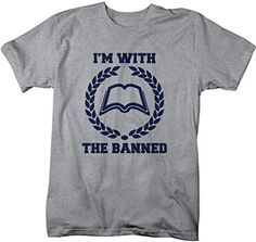 Let people know you're with the banned. If you read banned books or advocate for them to be read, this is the t-shirt for you. The design simply reads 'I'm with the banned' in a collegiate style and f