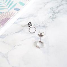 Little alveole earrings #giselb #jewelry #grey #mode #fashion #bijou #handmade #marble #designer #planoly #picoftheday #beautiful #minilabo