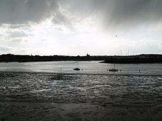 A view up the  Medway river from Chatham , Kent ,UK