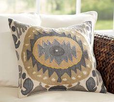 Nadia Ikat Pillow Cover #potterybarn