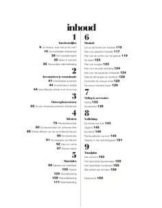 Inhoudsopgave Interieurbasics, met prachtige vormgeving door: http://www.pier3creatie.nl/3.%20w%20e%20r%20k/werk.html