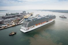 Royal Princess navigates to its docking space in Southampton. Photo by Steve Dunlop. Naming Ceremony, Royal Princess, Southampton, New York Times, Current Events, Adventure Travel, Politics, Tours, Vacation