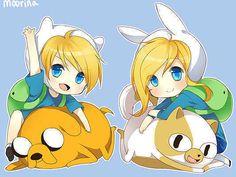 Chibi Adventure Time! Funny, Fionna, Cake, and Jake!