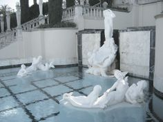 Statues in a pool