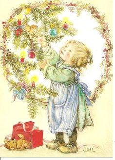 Lisi Martin 182 (I have in my collection! Vintage Christmas Images, Whimsical Christmas, Christmas Scenes, Christmas Past, Christmas Pictures, Christmas Greetings, Xmas, Vintage Greeting Cards, Vintage Postcards
