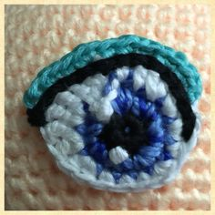 My crocheted Amigurumi eye by Sculpturingface