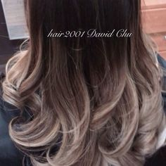 A closer look. High contrast, pearly brown and blond ombré | Yelp