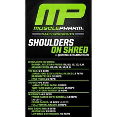 Workout of the Day! Shoulder Smoker by Powered by Tag someone and get ready for a tough shoulder workout! Chest Workouts, Gym Workouts, Killer Workouts, Workout Exercises, Fitness Exercises, Sports Training, Weight Training, Training Tips, Strength Training