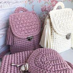 De Croche De Croche barbante De Croche com grafico De Croche de mao De Croche festa - Bolsa De Crochê Crochet Backpack Pattern, Free Crochet Bag, Bag Pattern Free, Crochet Tote, Crochet Handbags, Crochet Purses, Diy Crochet, Pattern Ideas, Knitted Bags