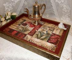 """Купить Столик-поднос """"Восточный"""" - бордовый, столик, столик для завтрака, столик-поднос, столик для ноутбука"""