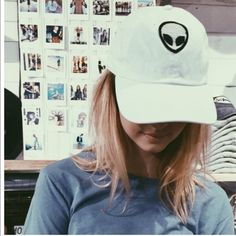 01949d38f9869 Brandy Melville white alien patch hat NWT Brandy Melville Accessories Hats  Alien Hat