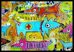 Teen Art, Selling Paintings, Outsider Art, Learn To Paint, Folk Art, Workshop, Animals, Image, Atelier