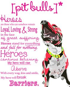 Heroes Pit Bull Pitbull Dog  Abstract Digital by RachelVictoriaArt, $10.00