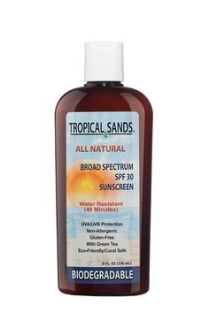 All Natural SPF 30 Sunscreen, Fragrance Free, Biodegradable, Reef Safe by Tropical Sands, Water Resistant Great for Snorkeling, 8 fl oz *** Be sure to check out this awesome product.