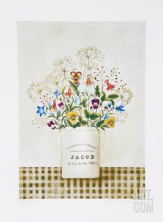 Flowers Rue Jacob Limited Edition by Mary Faulconer at Art.com