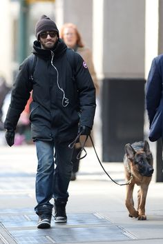 Brr! Jake Gyllenhaal was hardly recognizable all bundled up for the cold weather while on a walk with his dog Atticus in New York on Feb. 11, 2015.