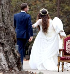Troian Bellisario chose the perfect boho wedding dress for her rustic wedding to Patrick Adams on Saturday, December 10, in Santa Barbara, California — see the pics and get the details!