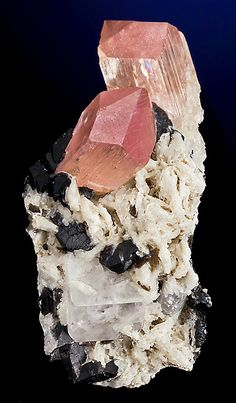 Gorgeous combination of pink-tipped Spodumene crystals with Goshenite and Smoky Quartz!  From Mawi, Laghman Province, Afghanistan.