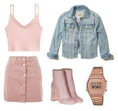 """""""Sem título #13"""" by catharina-bordallo on Polyvore featuring moda, Topshop, Hollister Co., Laurence Dacade e Casio"""